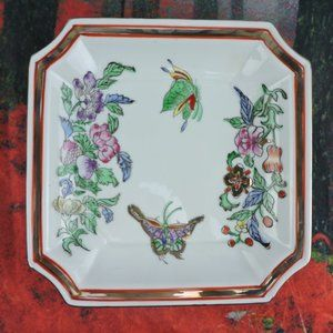 Other - Vintage Macau Japanese Porcelain Square Dish 8""